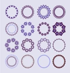 Frame elements floral elements vector