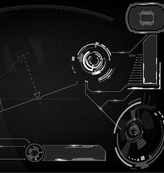 Head-up display Digital elements vector image