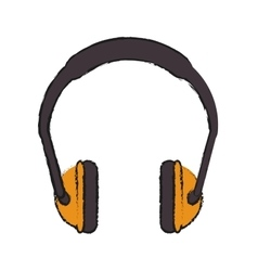 Headphone of industrial security design vector