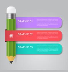 Infographics pencil template concept vector