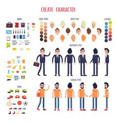 man character generator flat vector image