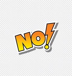 no cartoon text sticker vector image