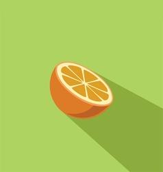 Orange Fruit Flat Design vector image vector image