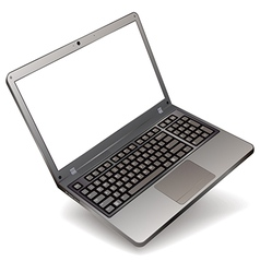photo realistic laptop with blank screen isolated vector image