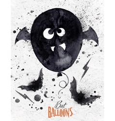 Poster halloween balloon vector