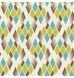 retro diamond repeat pattern 2 vector image vector image