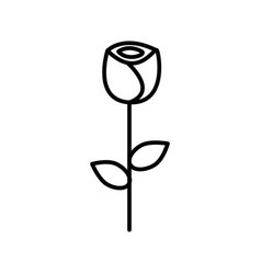 rose flower line icon sign vector image vector image