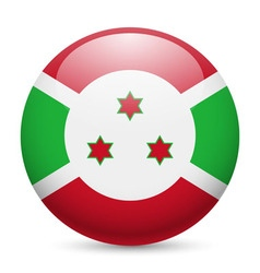 Round glossy icon of burundi vector