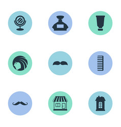 set of simple beautician icons vector image
