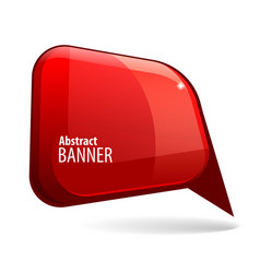 shiny gloss red 3d banner vector image