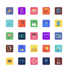 Shopping and ecommerce colored icons 2 vector