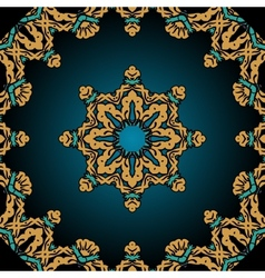 Stylized flower and frame border in tibet tribal vector