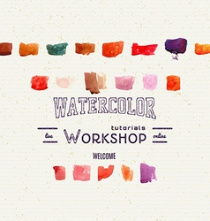 watercolor workshop banner for presentation vector image