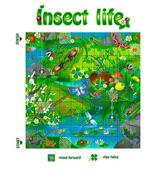 board game insect life 3 vector image