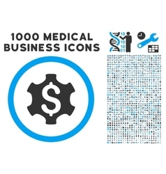 Financial settings icon with 1000 medical business vector