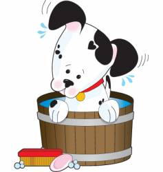 Doggie bath vector