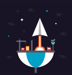 487paper plane launching from base vector