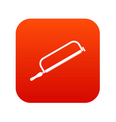 hacksaw icon digital red vector image
