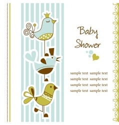 Birds baby shower vector image