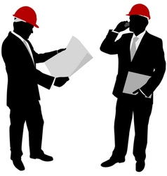 Businessmen with hard hat vector