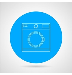 Flat icon for washing machine vector