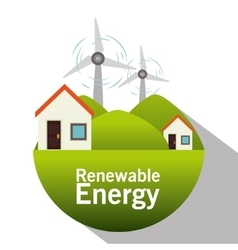 Green energy and ecology vector