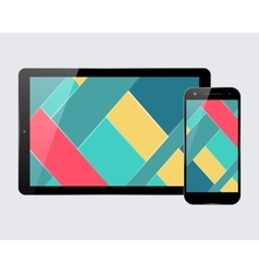 Tablet smartphone set vector