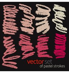Pastel strokes set 3 vector image
