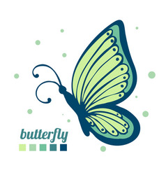 Beautiful butterfly sideways element for vector