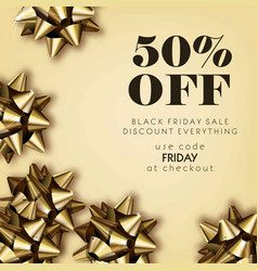 Black friday sale discount for everything promo vector