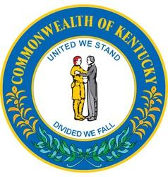 Commonwealth of Kentucky vector image