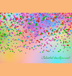 Confetti in the air backdrop vector