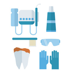 Dentist stomatology equipment vector