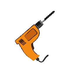 Drill construction tool vector