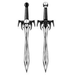 fantasy swords vector image