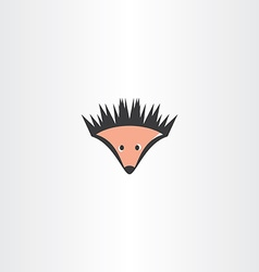 funny hedgehog icon vector image vector image