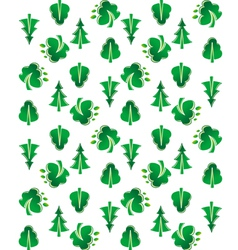 Green tree seamless background vector image