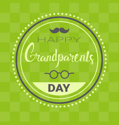 happy grandparents day greeting card banner vector image vector image