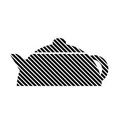Kettle sign on white vector