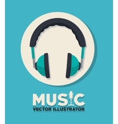Music adn headphones design vector