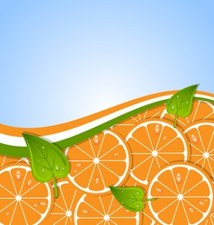 Orange template vector