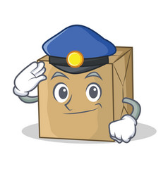 Police cardboard character character collection vector