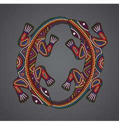 Print traditional african ethnic ornament with two vector
