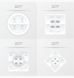 Set of presentation template white color vector