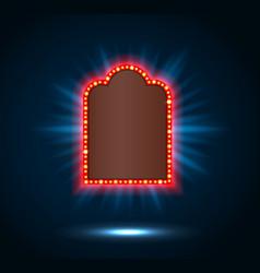 shining spotlight on billboard sign vector image vector image