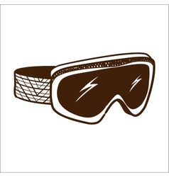 Ski glasses goggles isolated on white vector image
