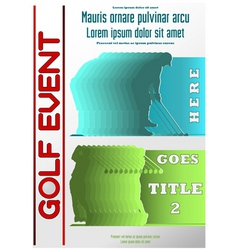 sport event poster golf vector image vector image