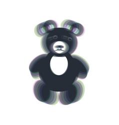 Teddy bear sign colorful vector