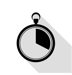 the 20 seconds minutes stopwatch sign black icon vector image vector image