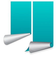 Turquoise sticker with curled up edge vector image vector image